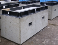 Stahlrahmen für Betonpallen