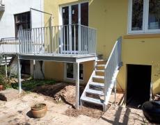 Balkon mit Gewendelter Treppe