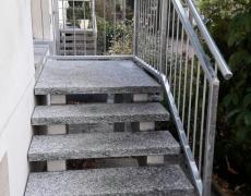 Verzinktes Treppengeländer